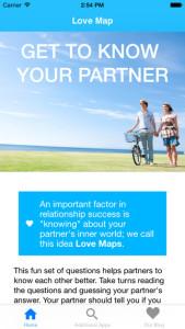 Love Maps Screenshot for Strengthening Relationships